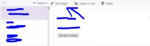 editing detail on yahoo mail contacts