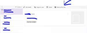 remove contact list from ymail contact