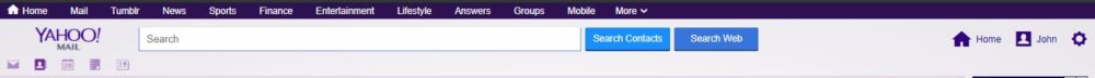 search contacts on yahoo mail