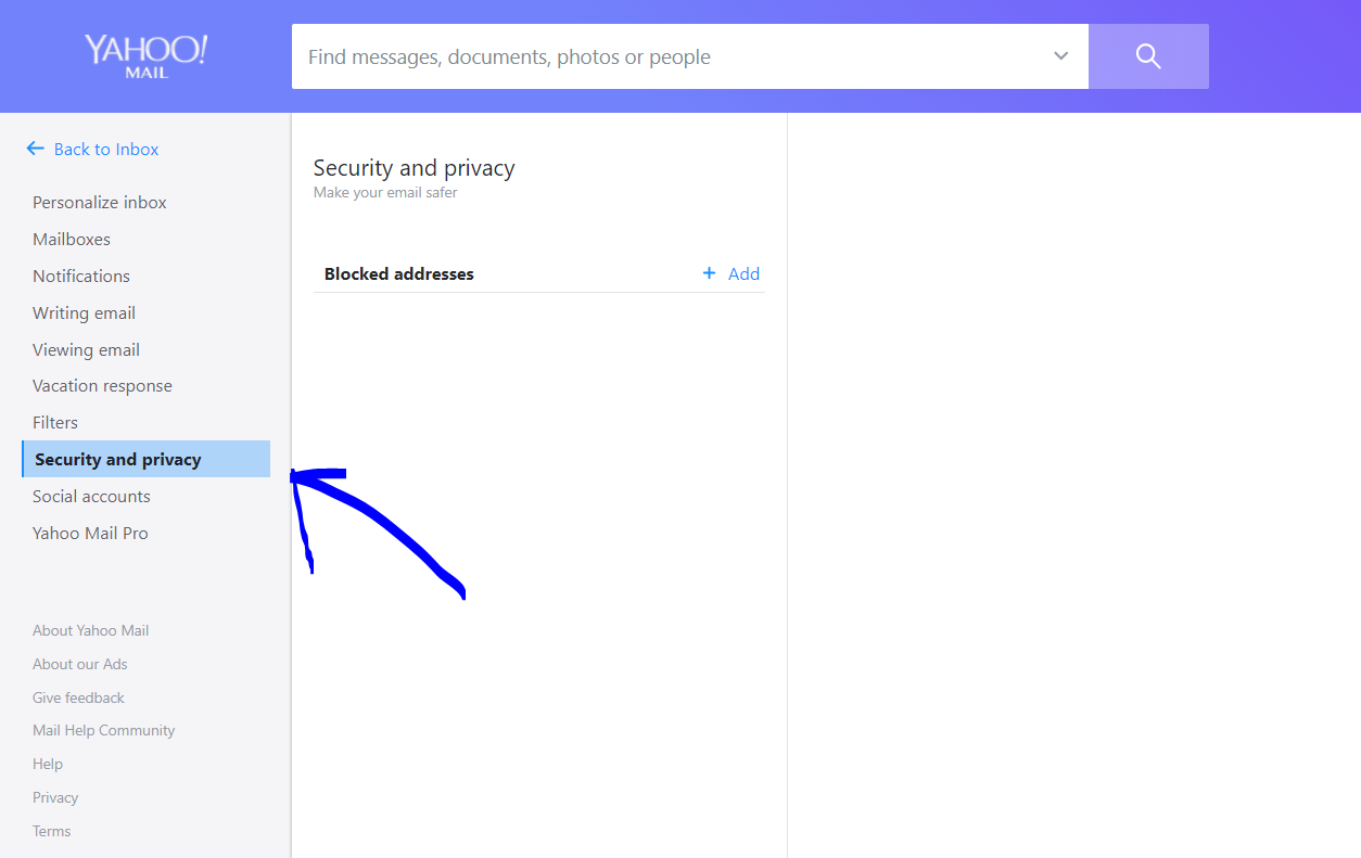 Block an Email Address in Yahoo Mail Account