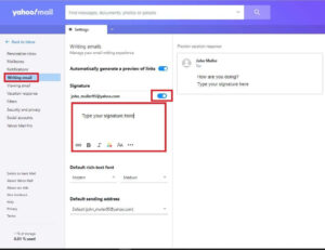 set up your Yahoo mail Signature