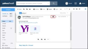 Print Emails in Yahoo Mail