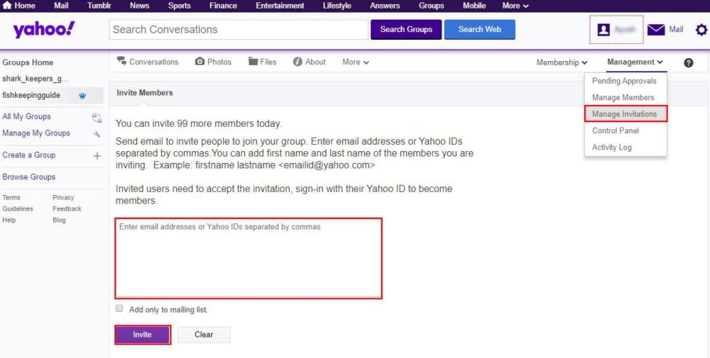 add members to yahoo group