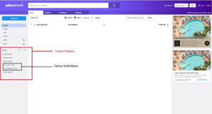 Folders to organize yahoo mails in Basic Yahoo Mail