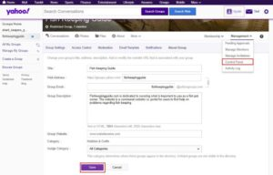 edit your yahoo group