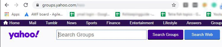 searching yahoo group