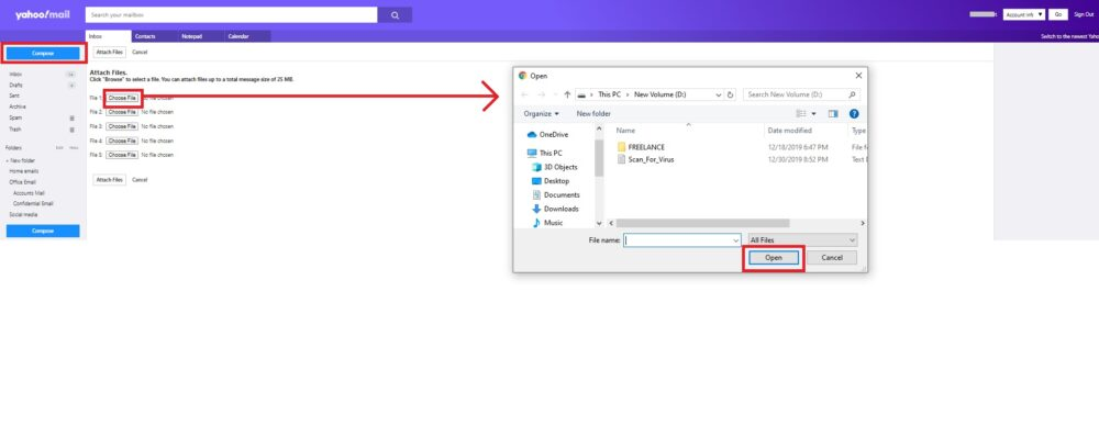 Upload Attachment To Yahoo Mail: Basic Yahoo Mail