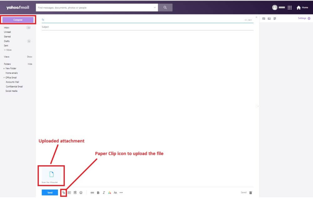 yahoo mail as virus scanner