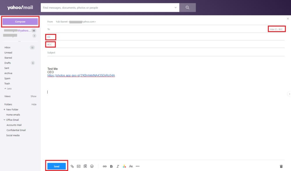 Send Email to multiple user via Browser