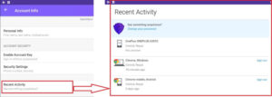 Yahoo Mobile Recent Activity